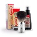 Zestaw kosmetyków z pędzlem do golenia z włosia borsuka Omega
