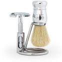 Zestaw do golenia z maszynką Frank Shaving i pędzlem Omega
